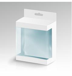 white blank cardboard rectangle white vector image vector image