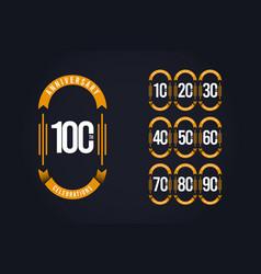 100 th anniversary celebration logo template vector