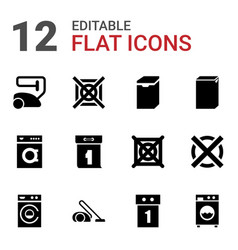 12 washer icons vector