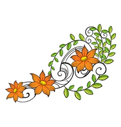 A border made of vine flowers vector