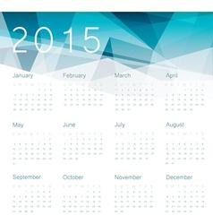 abstract calendar 2015 vector image