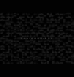 abstract pattern black square grid pixels on dark vector image