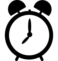 Alarm clock logo icon isolated watch object time vector