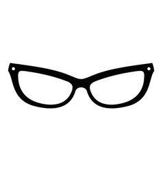 Astigmatic eyeglasses icon simple style vector