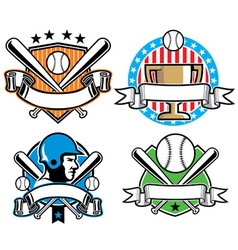 Baseball emblem set vector image