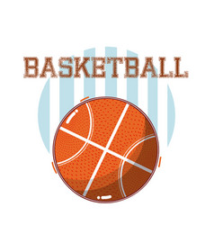 basketball game sport equipment vector image