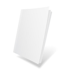 blank flying cover of magazine book booklet vector image