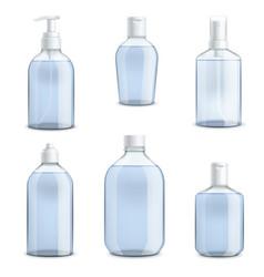 Bottles hand sanitizer transparent templates vector