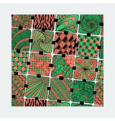 Bright varicolored pattern zentangle vector