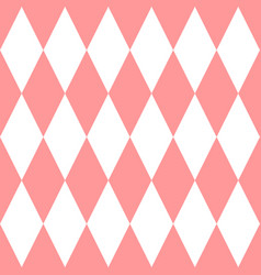 Checkered tile pattern or pink and white wallpaper vector
