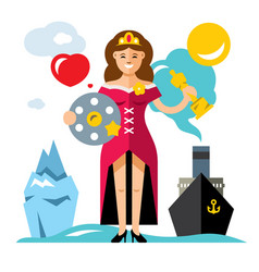 cinema award best actress flat style vector image