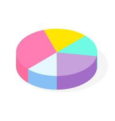 colorful 3d pie diagram pie chart digital vector image