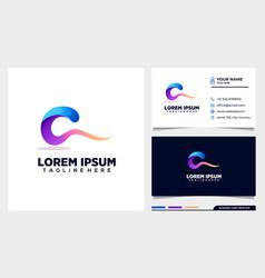 Colorful c initial logo design template vector