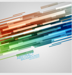 colorful shapes abstract scene vector image
