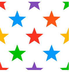 colorful star seamless background vector image