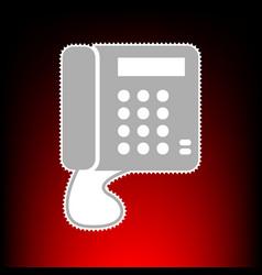 communication phone vector image