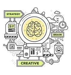 Creative professional mechanism to create vector