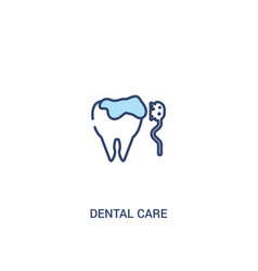 dental care concept 2 colored icon simple line vector image