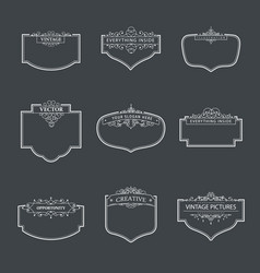 design elements template vector image