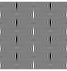 Design seamless monochrome warped pattern vector image