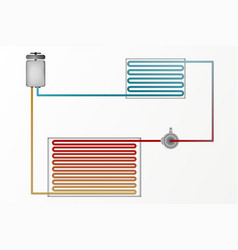 Diagram of air conditioning the technology of vector
