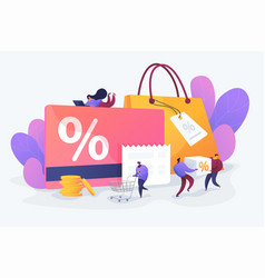 Discount and loyalty card vector