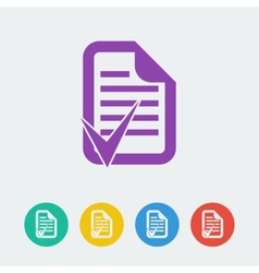 document accept flat circle icon vector image
