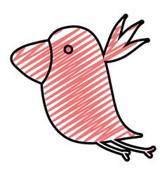 doodle silhouette nice bird fauna animal vector image