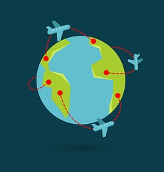 earth travel vector image
