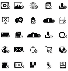 error icon set vector image