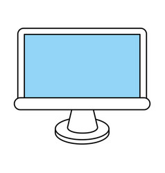 Flat line screen design vector