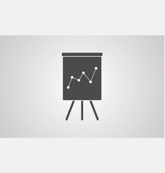 flipchart icon sign symbol vector image