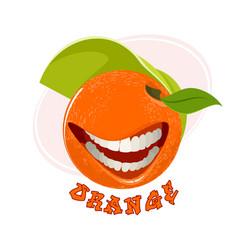 funny orange on white vector image