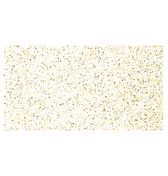 golden polka dot small confetti on white vector image