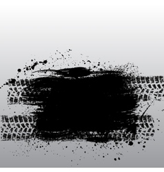 Grunge tire track vector image