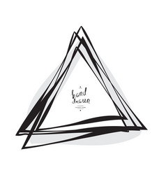 hand drawn sketched triangle vector image