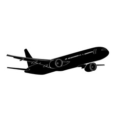 Isolated airplane silhouette vector