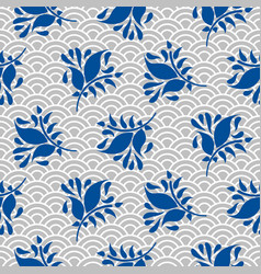 Japanese pattern in blue and gray colors vector