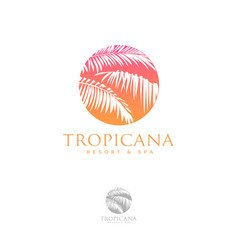 Logo tropicana spa leaves vector