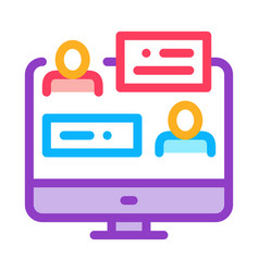 online discussion icon outline vector image