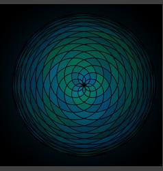 Pattern from the circular repeating mosaic vector