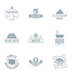 Purest water logo set simple style vector