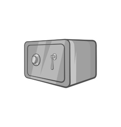 Safety deposit box icon black monochrome style vector image