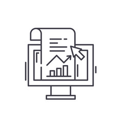 sales statistics line icon concept sales vector image