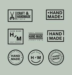 set linear badges and logo design elements vector image