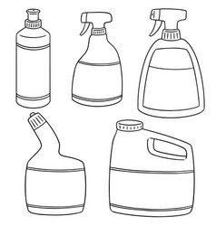set of bathroom cleaning solution vector image
