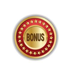 Shopping bonus label golden badge seasonal sale vector