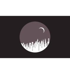 Silhouette of city icon design vector