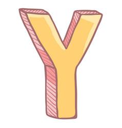 Single cartoon - the letter y vector