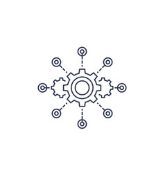 Software integration test automation line icon vector